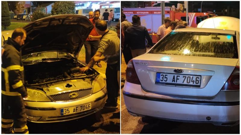 Şanlıurfa'da Seyir halindeki otomobilin motoru alev aldı