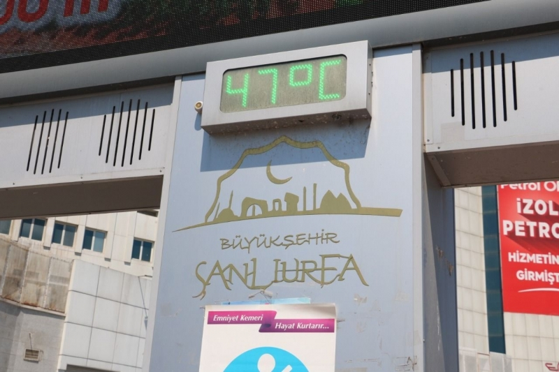Şanlıurfa'da termometreler 40 dereceyi gösterdi