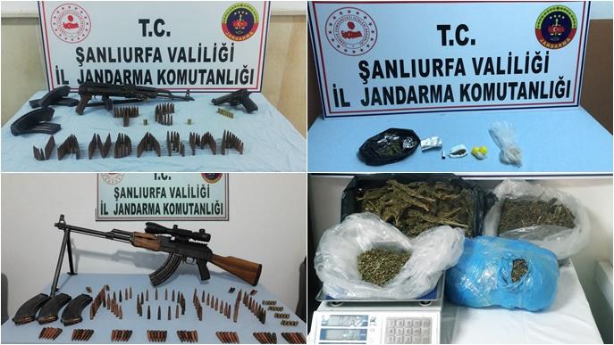 Şanlıurfa'da Uyuşturucu Ve Silah Operasyonu:14 Gözaltı-(FOTOLU)