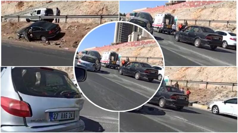 Şanlıurfa'da zincirleme kaza:1 yaralı-(VİDEO)