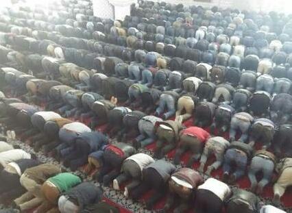 Şanlıurfa'daki camiler doldu taştı.