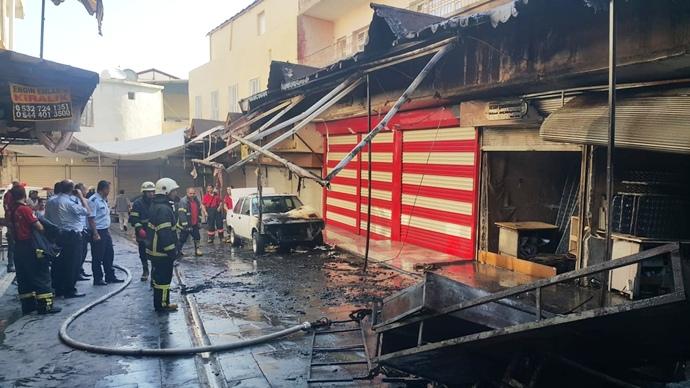 Şanlıurfa'daki Yangın Korkuttu
