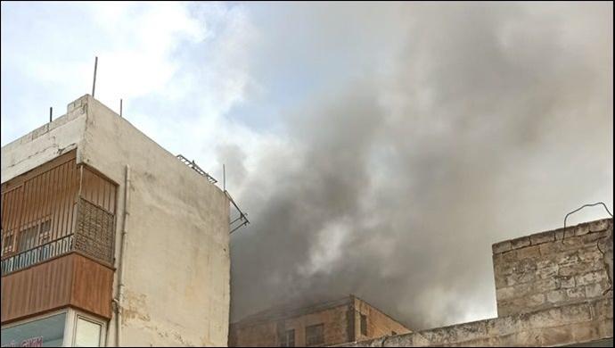 Şanlıurfa'nın Kalbinde Korkutan Yangın-(VİDEO)