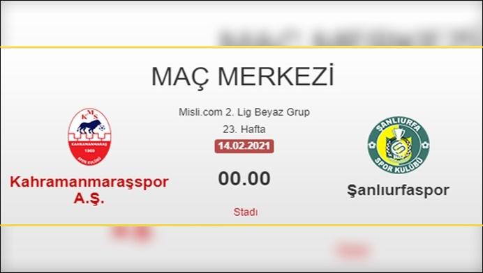Şanlıurfaspor-Kahramanmaraşspor'a Konuk Olacak