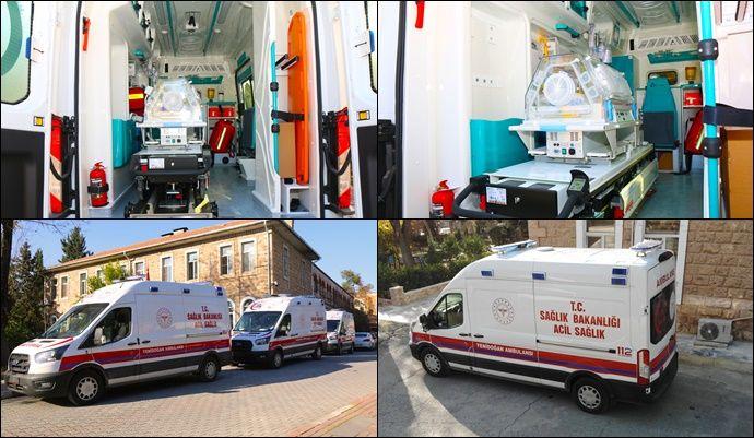 Şanlıurfa'ya 3 adet yenidoğan acil yardım ambulansı tahsis edildi