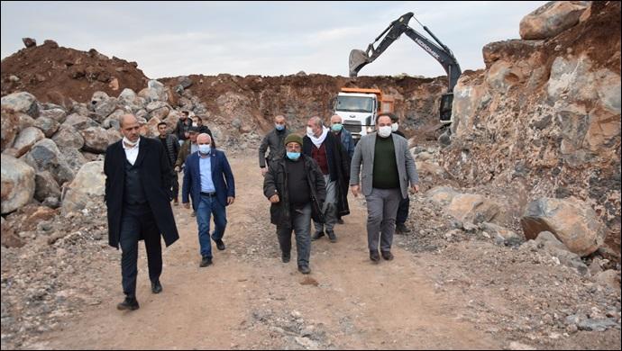 Sarıbal Kırsal Mahallesinde Stabilize Yol Çalışması