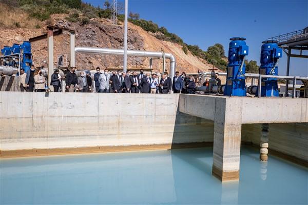 Seferihisar'daki jeotermal tesislerinde inceleme