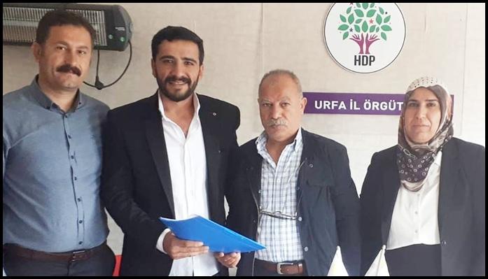 Serdar Yahlioğlu,HDP'den Şanlıurfa Milletvekili aday adayı oldu