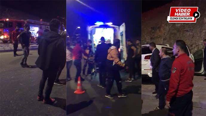 Seyrantepe'de kaza: Araç kaldırıma çıktı