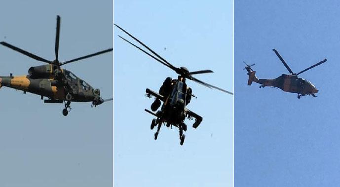 Sınırda ortak devriye helikopter uçuşu gerçekleştirdi
