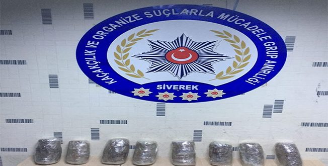 Siverek'te-Diyarbakır yolunda 5 Kilo 640 Gram Esrar Ele Geçirildi