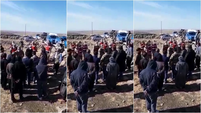Siverek'te kırsal mahalle sakinleri eylem yaptı-(VİDEO))