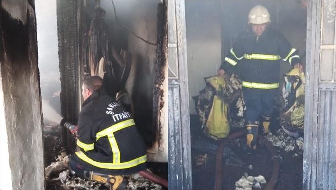Siverek'te Mesken Yangını: İtfaiye Müdahale etti
