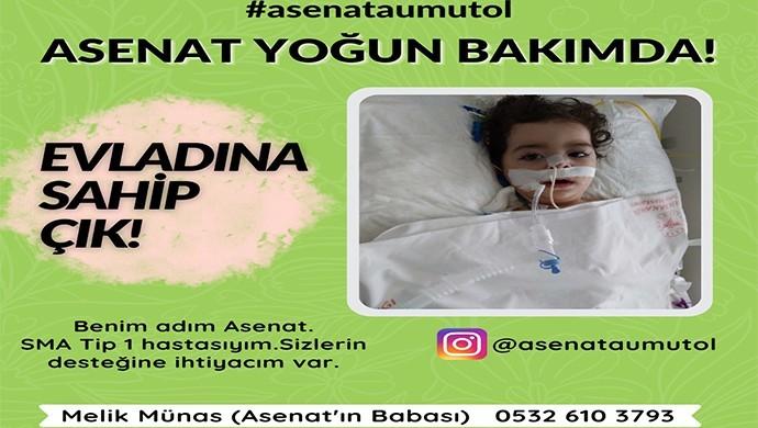 SMA hastası Asenat için destek çağrısı