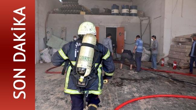 Son Dakika .. Şanlıurfa'da fabrika yangını