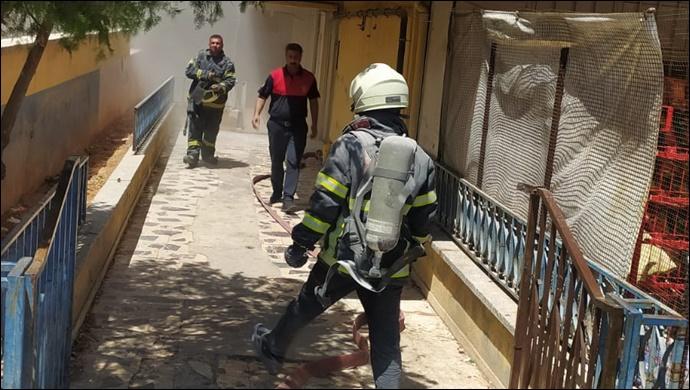 SON DAKİKA...Haliliye'de elektrik panosu bomba gibi patladı: İtfaiye söndürdü-(VİDEO)