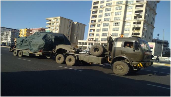 Suriye sınırına zırhlı araç sevkıyatı sürüyor