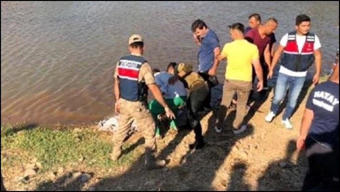 Suriyeli baba ve 2 çocuğu boğuldu