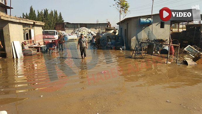 Suruç'ta ev ve işyerleri su altında kaldı
