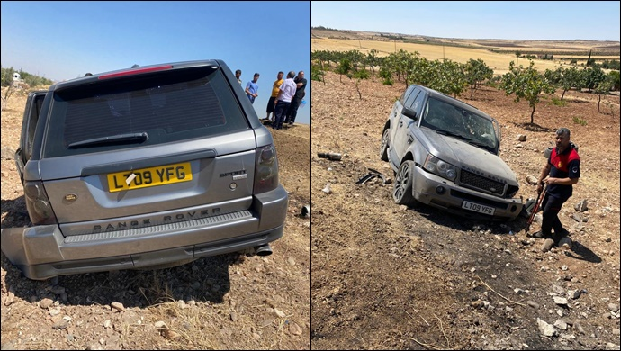 Suruç'ta iki araç çarpıştı: Araçlardan biri şarampole uçtu