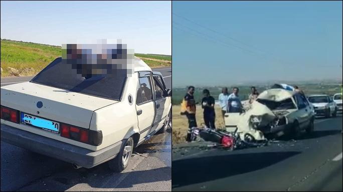 Suruç'ta motosiklet ile otomobil çarpıştı: 1 ölü, 2  yaralı-(VİDEO)