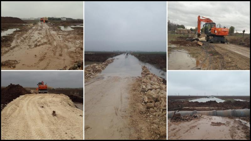Suruç'ta Sel Nedeniyle Kapanan Yollar Ulaşıma Açıldı