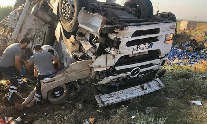 Suruç'ta tır ile kamyon çarpıştı: Yaralılar var …