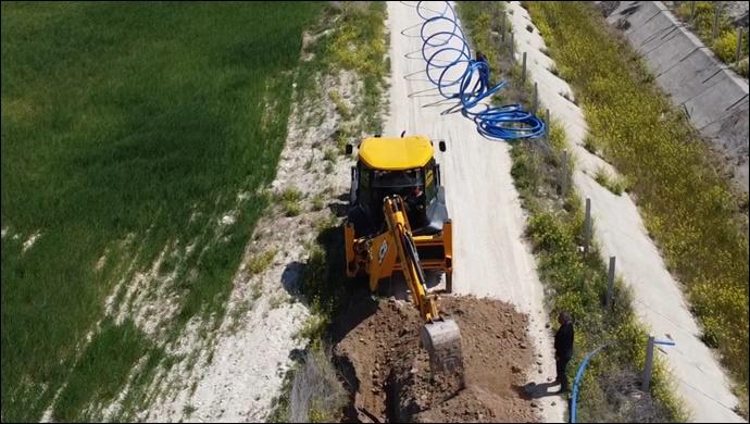 ŞUSKİ Kırsal'da, yağmursuyu ve kanalizasyon hat döşeme çalışmalarına