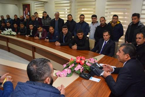 Taşeron işçilerden Başkan Atilla'ya ziyaret (VİDEOLU)
