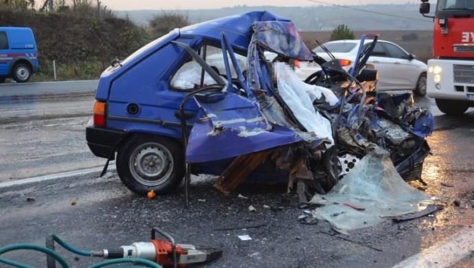Tekirdağ'da kaza: 2 ölü, 3 yaralı