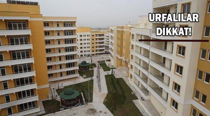 TOKİ Urfa'da açık arttırmayla konut ve işyeri satacak: Başvurular yarın