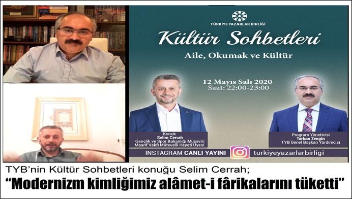 TYB'nin Kültür Sohbetleri konuğu Selim Cerrah