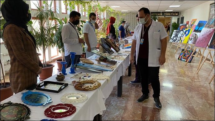 Urfa AMATEM'de Tedavi Gören Hastalar Sergi Açtı-(VİDEO)