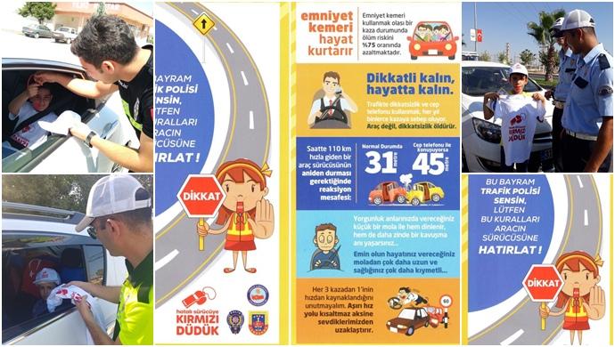 """Urfa Emniyet müdürlüğü Trafik denetleme ekiplerinde kent genelinde """"Kırmızı Düdük"""" uygulaması başlattı"""