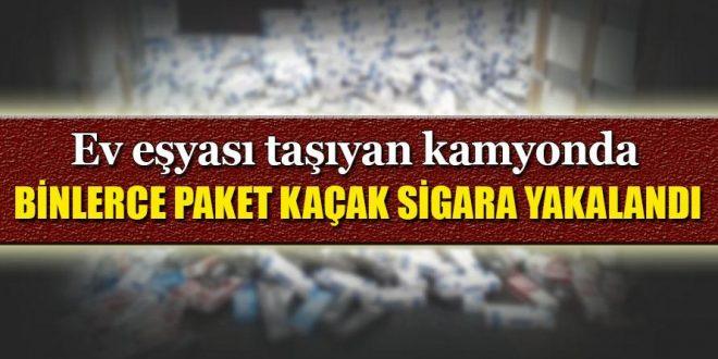 Urfa karayolunda binlerce kaçak sigara yakalandı
