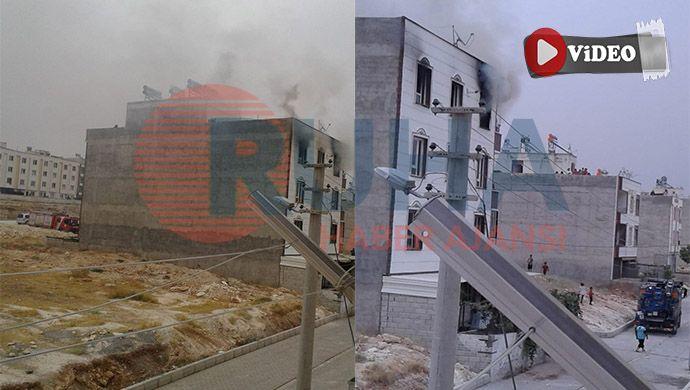 Urfa'da 3 katlı apartmanda yangın çıktı!
