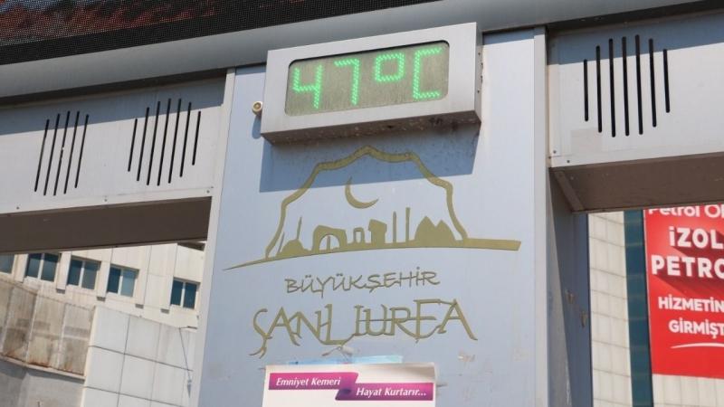 Urfa'da Afrika sıcakları vatandaşları bunaltıyor