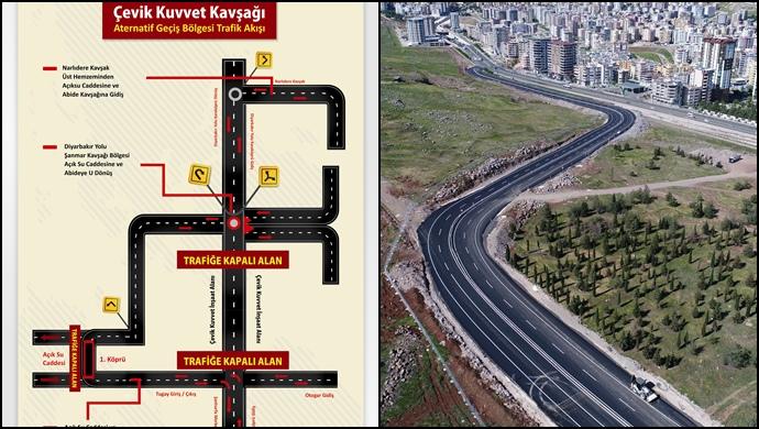 Urfa'da Alternatif Yollar Yarın Trafiğe Açılıyor
