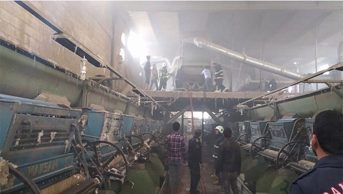 Urfa'da Çırçır Fabrikasında çıkan Yangın korkuttu