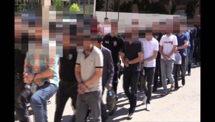 Urfa'da Drone İle Yasa Dışı Bahis Operasyonu: 18 Tutuklama-(Videolu)