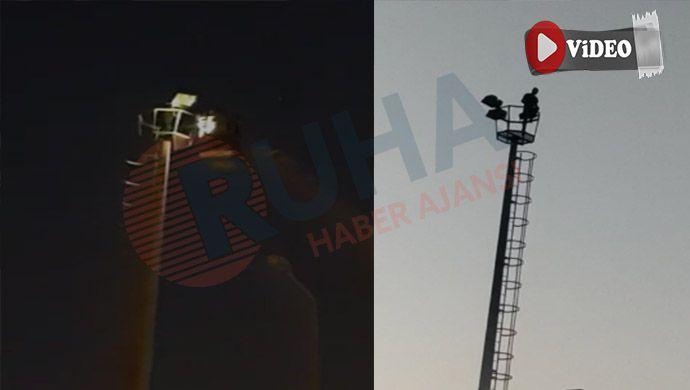 Urfa'da elektrik direğine çıkan bir vatandaş intihar teşebbüsünde bulundu