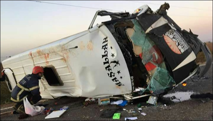 Urfa'da Feci Kaza 2 Ölü, çök sayıda yaralı
