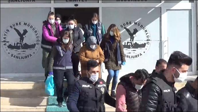 Urfa'da fuhuşa geçit yok! 11 kişi tutuklandı-(VİDEO)