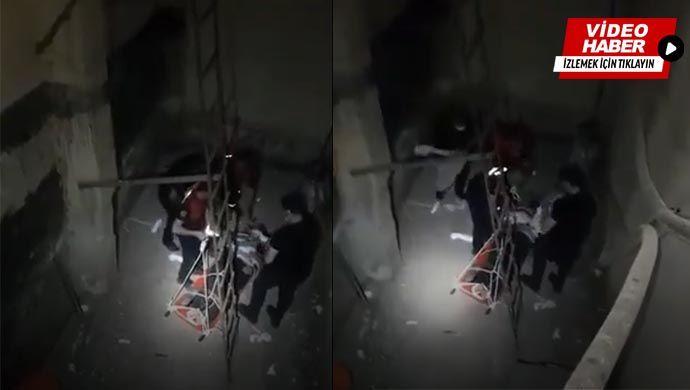 Urfa'da hastane boşluğuna düştü: Yardımına itfaiye ekipleri yetişti