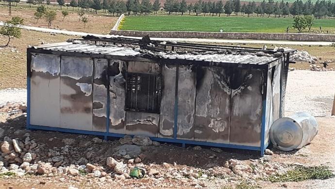 Urfa'da konteynırda yangın çıktı! Yangından sonra harabeye döndü