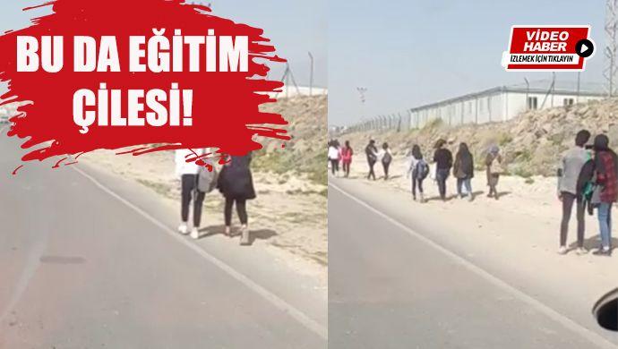 Urfa'da öğrencilerin çileli yolculuğu! Hem otobüs seferi az hem kaldırım yok