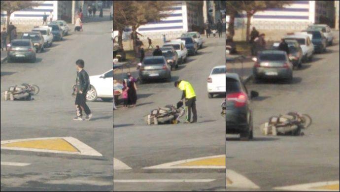Urfa'da otomobil motosiklete çarptı! 1 kişi yaralandı