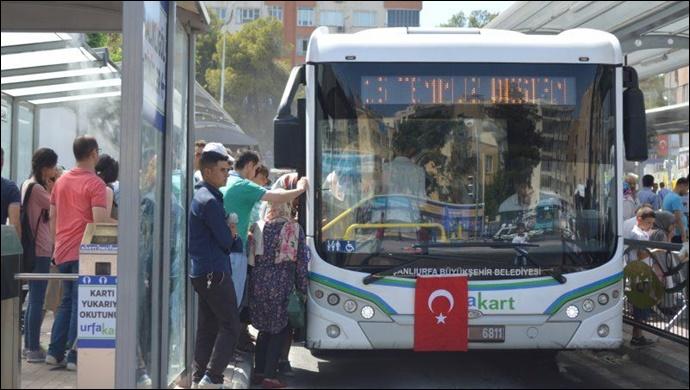 Urfa'da şehir içi ulaşımına koronavirüs ayarı!