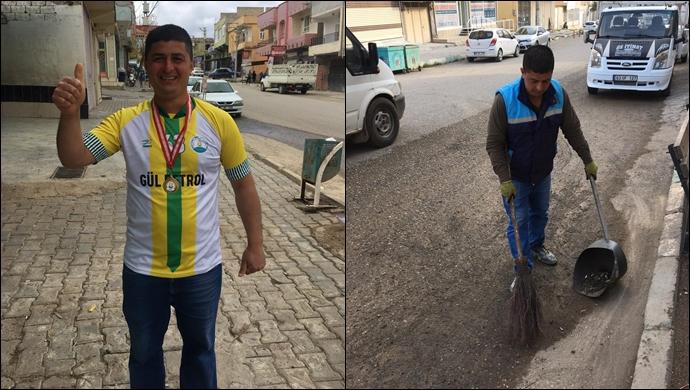 Urfa'da sokakta temizlikten maraton derecesine: 100 kişi içinde dereceye girdi-(VİDEO)