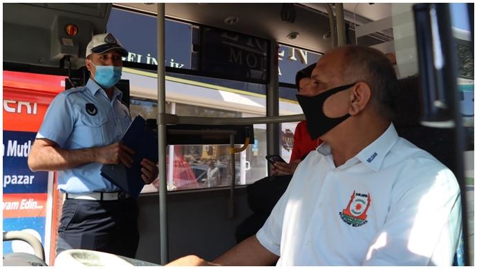 Urfa'da Toplu taşıma araçlarında denetim-(VİDEO)